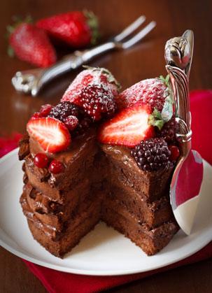 水果巧克力蛋糕